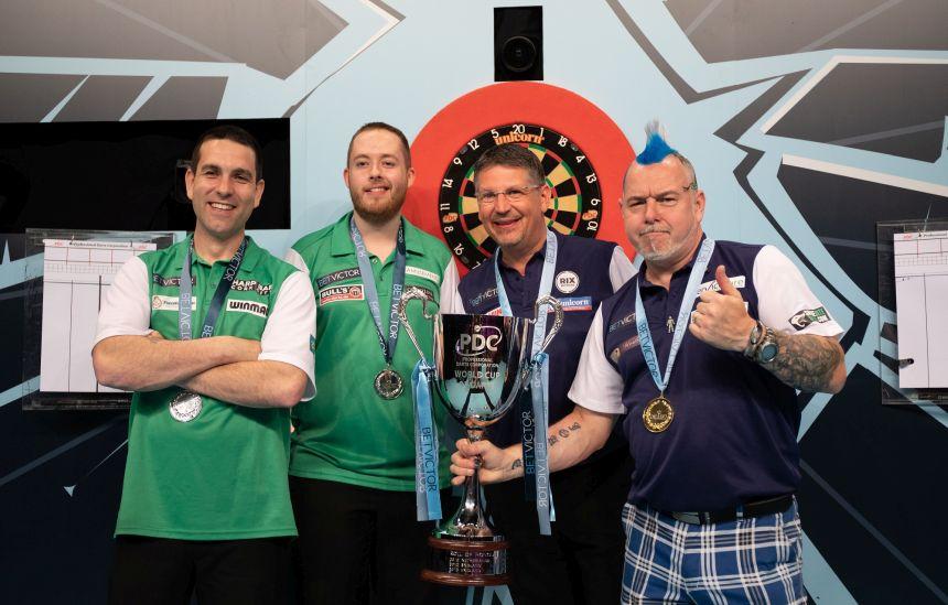 Die Vorjahres-Finalisten beim World Cup of Darts