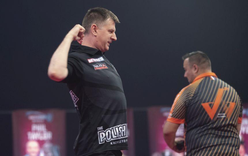 Krzysztof Ratajski lieferte die Bestleistung an Tag 1 beim World Matchplay.