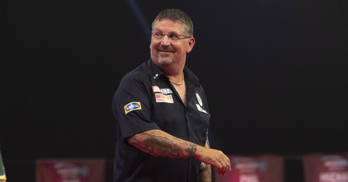 Gary Anderson beim World Matchplay Darts 2020