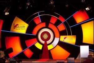 Die Bühne der BDO Dart WM im Lakeside Country Club