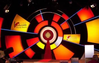 Die Bühne der BDO Lakeside Dart Weltmeisterschaft 2016