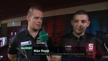 Max Hopp und Nathan Aspinall im TV Interview