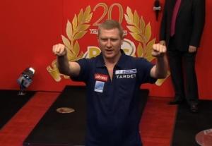 Scott Rand besiegte Kim Huybrechts bei der PDC Dart WM 2013