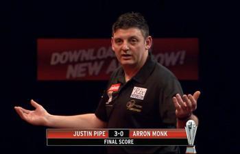 Justin Pipe nach seinem 3:0 Sieg über Arron Monk