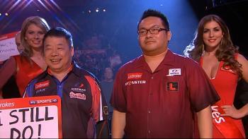 Paul Lim und Morihiro Hashimoto beim Walk-On