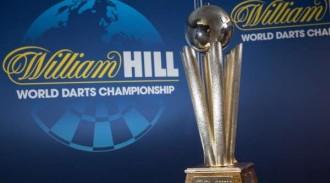 Um den Pokal geht es bei der PDC Dart WM in London