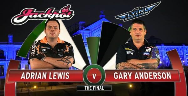 Gary Anderson und Adrian Lewis PDC Dart WM 2016