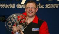James Wade nach seinem World Grand Prix Titel