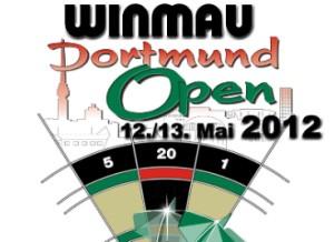 Das wohl letzte Logo der Winmau Dortmund Open 2012