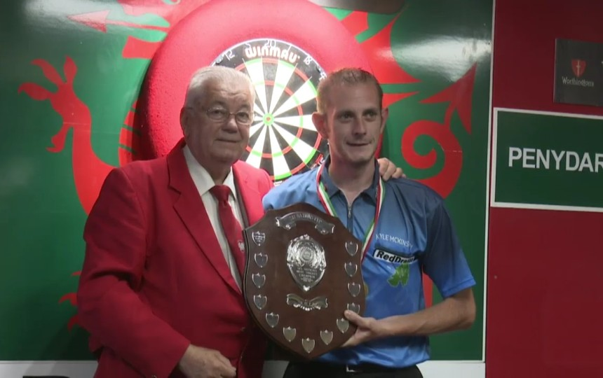 Kyle McKinstry bei seinem Turniersieg in Wales