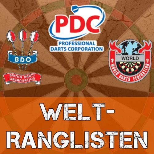 weltrangliste dart pdc